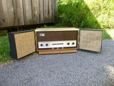 Rare Vintage General Electric T1006A AM FM Superheterodyne Stereo Receiver Teakw
