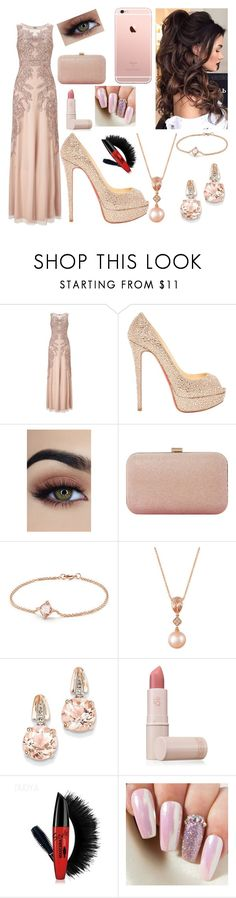 """""""Untitled #257"""" by kait-h ❤ liked on Polyvore featuring Adrianna Papell, Christian Louboutin, Dune, David Yurman, LE VIAN, BillyTheTree and Lipstick Queen"""