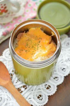 スープジャーでHOTなお弁当!ホクホク&とろ~り♪「じゃがいもとフランスパンのグラタンスープ」のレシピ CAFY [カフィ]