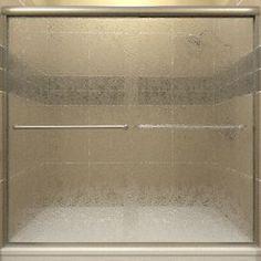 Arizona Shower Door Lite Euro 44-In To 48-In W X 70.375-In H Brushed N