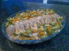 Recetas para tu Thermomix - desde Canarias: Pan de carne con verduras al vapor y salsa de champiñones