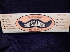 Mustache Baking Pan, Moustache Mold | Stache Me If You Can, Moustaches, Mustaches, Photo Booth