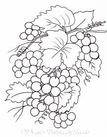 MK art's Pintura em Tecido: FRUTAS Cool Art Drawings, Easy Drawings, Embroidery Flowers Pattern, Embroidery Designs, Painting Still Life, Wine Bottle Crafts, Stained Glass Patterns, Painting Patterns, Colouring Pages