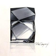 """perfume bottle #designsketch #rendering #industrialdesign #marker #copic"""