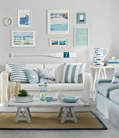 Quiz: How Much Do You Know about White Living Room Furniture? - Quiz: How Much Do You Know about White Living Room Furniture? Cottage Style Living Room, Beach Living Room, Coastal Living Rooms, Living Room White, Home Living Room, Living Room Designs, Living Room Furniture, Small Living, Coastal Cottage