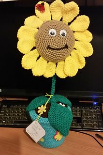 Zombies Sunflower pattern by Julianne Winter Awareness Ribbons, Cancer Awareness, Christmas Afghan, Plants Vs Zombies, Sunflower Pattern, Crochet Flowers, Ravelry, Etsy Store, Crochet Hats