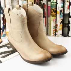 Joker Soft Rub Skin Color Cowboy Women Boots 2015 Winter Fashion Quality Neutral Wrinkle Fitness Euro Style Matte Old Vintage