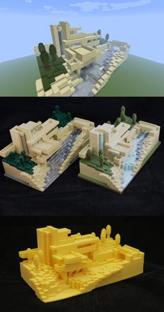 3D Printing of Minecraft creation modeled after LEGO modeled after real architecture.