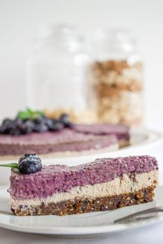Cheesecake de Blueberry Vegano