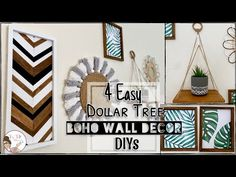 For this video I've created 4 Boho inspired DIYs all from using Dollar Tree items 😊 I really . Tree Wall Decor, Diy Wall Decor, Home Decor, Wall Decorations, Dollar Tree Decor, Dollar Tree Crafts, Art Wall Kids, Diy Wall Art, Chevron Wall Art