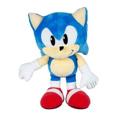 Features classic 1991 Sonic styling Collectible plush is approximately 12 inches tall Suitable for ages 3 years and up Sonic Plush Toys, Sonic 25th Anniversary, Sonic The Hedgehog Costume, Caleb, Cute Toys, Boyfriend Birthday, Boy Doll, Call Of Duty, Toyota Supra