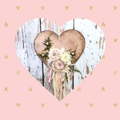 Add a little romantic decor into your style with is wood heart embellished with handmade fabric and lace flowers. Add a little romantic decor into your style with is wood heart embellished with handmade fabric and lace flowers. Shabby Chic Interiors, Shabby Chic Bedrooms, Shabby Chic Decor, Bedroom Interiors, Bohemian Decor, Farmhouse Style Bedrooms, Farmhouse Bedroom Decor, Shabby Chic Flowers, Lace Flowers