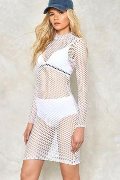 So Dot Right Now Mesh Dress
