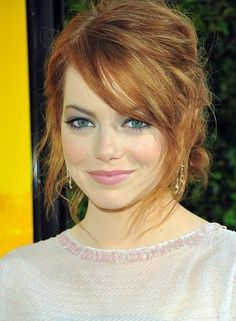 Prom Hairstyle for Long Hair - Emma Stone's Feminine Updo