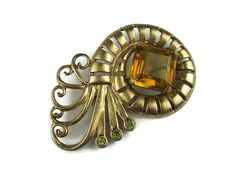 10/13/16  Big Vintage Brooch from 1940's by VintageSparkleyBits on Etsy