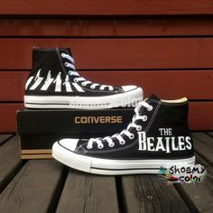 Christmas Gifts All Star Shoes Custom The Beatles High Top Black Shoes