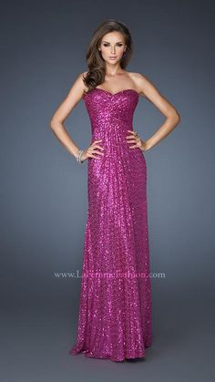Style #18414 - Available in Magenta, Size 12  www.anniesroombridal.com