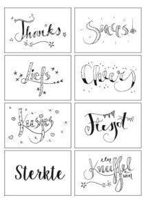 Cadeaukaartje - havetohave - Have to Have Zentangle, Hand Lettering Alphabet, Starting School, Paint Pens, Diy Cards, Diy Gifts, Card Making, Doodles, Bullet Journal