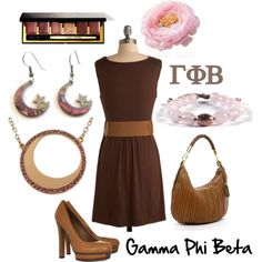 Art Gamma Phi Beta i-am-a-gamma-phi-beta-girl Liberian Girl, High Fashion, Fashion Beauty, Gamma Phi Beta, Brown Outfit, Cool Style, My Style, Themed Outfits, Autumn Fashion