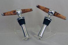 Wine Bottle Stopper/Corkscrew  Cherry Burl Handles by woodenquill, $25.00