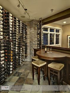 In-home basement bar and wine cellar!