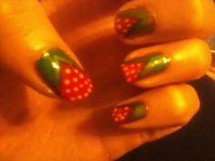 strawberry nails Anna Samir
