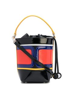 PIERRE HARDY TARGA BUCKET BAG. #pierrehardy #bags #shoulder bags #hand bags #bucket #patent Leather Bags, Patent Leather, Shoulder Bags, Shoulder Strap, Pierre Hardy, Hand Bags, Bucket Bag, Women Wear, Shopping