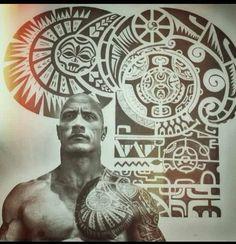 "Dwayne "" The Rock "" Johnson Polynesian Tattoo #samoantattoosmeaning"