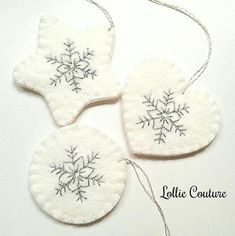 Christmas Ornaments - SET OF 3 MODERN HOLIDAY by Lollie Couture MADE IN THE USA Modern Christmas Ornaments designed to add elegance and rich style to your Holidays! ORNAMENTS ARE SOLD in SETS OF 3 Handmade from Premium Quality 100% USA made with several stacked Soft Wool Felt
