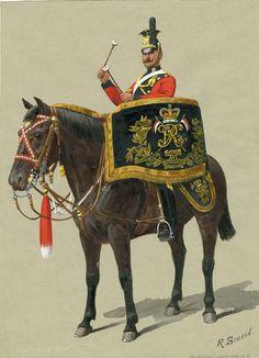 British; 16th Queen's Lancers, Kettledrummer 1908 by Richard Simkin