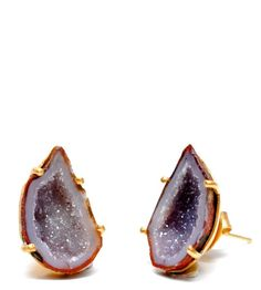 For your Geology nerd Outdoor Princess these Geode Earrings have bling and are natural. $128