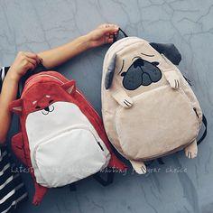 Vintage cute designer dog fox ear embroidery corduroy canvas women backpack school notebook bag girls rucksack travel mochila -  http://mixre.com/vintage-cute-designer-dog-fox-ear-embroidery-corduroy-canvas-women-backpack-school-notebook-bag-girls-rucksack-travel-mochila/  #Backpacks