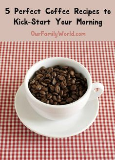 Kick your morning into high gear with these 5 perfect coffee recipes! From smoothies to espresso theres something for all caffeine lovers! Check it out! Breakfast Smoothies, Breakfast Recipes, Dinner Recipes, Yummy Drinks, Delicious Desserts, Yummy Food, Coffee Drink Recipes, I Love Coffee, Afternoon Snacks
