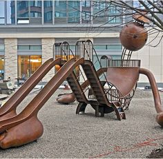 Play sculpture by Tom Otterness, New York City. I didn't take this photo but I have similar ones of Kyler playing here! so cool!