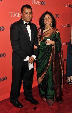 Author Chetan Bhagat with Wife Anusha Bhagat