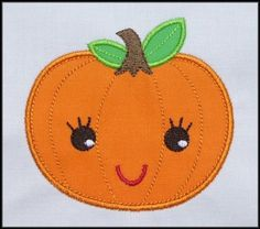 Sweet Pumpkin Applique designs by DBembroideryDesigns on Etsy, $4.99