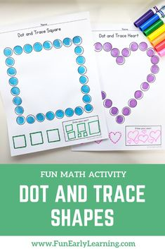 Dot and Trace Shapes no prep math activity! Learn shape identification and shape formation with bingo daubers! Great activity for preschool, kindergarten and RTI. Shape Activities Kindergarten, Special Education Activities, Kindergarten Activities, Preschool Activities, Indoor Activities, Shape Activities For Preschoolers, Preschool Shape Activities, Special Education Schedule, Summer Activities