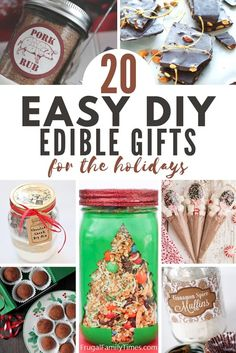Thoughtful and delicious - these edible gift ideas are a win for everyone on your list! Our collection of edible Christmas gifts are a perfect thank-you gift, teacher gift or gift for neighbors. Included are brownies in a jar, cookies in a jar, cooking spice mixes, treats, holiday hot chocolate mix, soup mixes, wine, beer and more! Edible Christmas Gifts, Neighbor Christmas Gifts, Edible Gifts, Neighbor Gifts, Great Christmas Gifts, All Things Christmas, Christmas Decor, Christmas Ideas, Chocolate Chip Cookie Mix