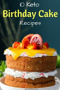 Who said baking cakes would take hours? Not only are these birthday cake recipes keto-friendly but they only take minutes to make! Check out the top ten recipes here. Low Carb Sweets, Low Carb Desserts, Easy Desserts, Delicious Desserts, Healthy Birthday Cakes, Vegan Birthday Cake, Birthday Desserts, Cream Cheeses, Keto Recipes