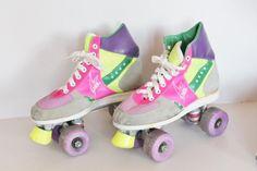 Patin à roulette quad roller quad patin à par RecreVintage sur Etsy
