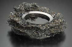 """Sharon Portelance: """"Wreath for Liam and Maeve"""" - Bracelet sterling silver, 22kt gold:  Memory Breathes Collection"""