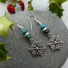 Earrings Christmas Snowflake Beads Free by TheCrystalCavern, €8.00