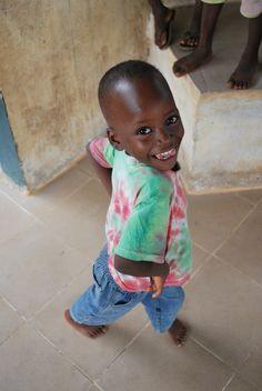 Abu Bakarr strikes a pose. Bo, Sierra Leone --I just love this kid!