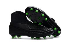 innovative design 12d43 f9b9f 2017 Nike Magista Orden II FG Black green soccer cleats