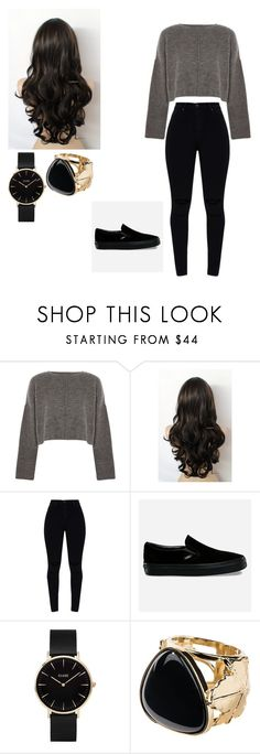 """""""Untitled #399"""" by jaclynncaleriggs ❤ liked on Polyvore featuring Topshop, Vans, CLUSE and Aurélie Bidermann"""