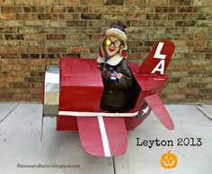 DYI - Red Plane made from a box