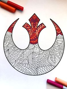 Rebel Alliance Star Wars Symbol PDF Zentangle Coloring Page - Rebels Star Wars - Ideas of Rebels Star Wars - Rebel Alliance Star Wars Symbol PDF Zentangle Coloring Page Star Wars Logos, Star Wars Tattoo, Star Wars Quotes, Star Wars Humor, Citations Star Wars, Rebel Alliance, Star Wars Painting, Star Wars Personajes, Sidewalk Art