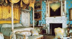 Bedchamber, Woburn Abbey, c. Belton House, Harewood House, Chatsworth House, Beautiful Bedrooms, Beautiful Interiors, Beautiful Homes, English House, English Style, Places