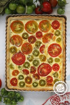 Tomato and Goat Cheese Quiche - Kitchen Secrets - Practical Recipes Quiches, Goat Cheese Quiche, Honey Dessert, Good Food, Yummy Food, I Foods, Food And Drink, Pizza, Breakfast