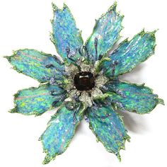 Wallace Chan Opal Sapphire Garnet Gold Flower Pin Celebrating Spring's Blooming Flowers | Jewels du Jour